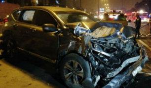 Surco: dos muertos y tres heridos tras choque en Panamericana Sur