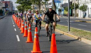 Este domingo amplían horario de carril para ciclistas en corredor Tacna - Garcilaso de la Vega