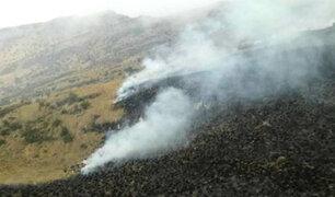 Apurímac: Santuario Nacional Ampay es afectado por incendio forestal