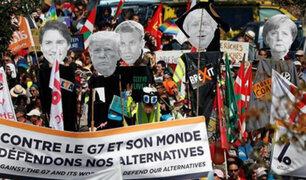 Francia: violencia tras inicio del G7 deja 68 detenidos
