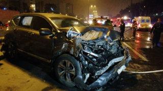 Panamericana Sur: accidente vehicular dejó dos muertos y tres heridos