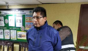 Walter Aduviri es detenido en La Victoria por la Policía
