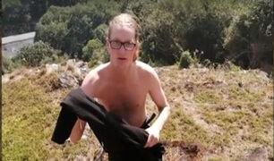 Cusco: expulsan a turistas por tomarse fotos desnudos en Machu Picchu