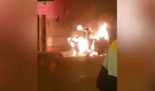 SMP: denuncian que mafia de cobro de cupos incendió mototaxi