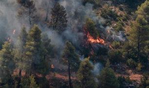 Grecia: incendio forestal obliga a evacuación en isla de Samos