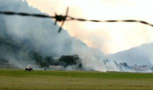 Incendio forestal alertó a personal del aeropuerto de Tingo María