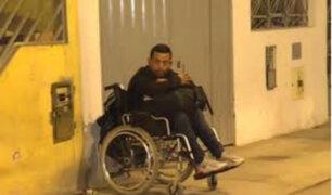 SMP: extranjero en silla de ruedas que acuchilló a joven fue llevado al Depincri