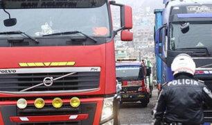 La Victoria: dueños de camiones intervenidos pagarán S/2100 de multa