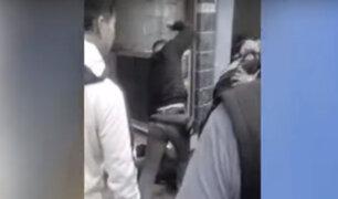Santa Anita: comerciantes capturan a ´marca´ y lo castigan