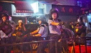 """Hong Kong: policía reconoce que hizo disparos """"de advertencia"""" contra manifestantes"""