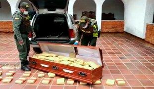 Colombia: Policía encuentra 300 kilos de marihuana dentro de un ataúd