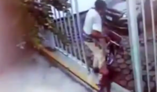 Salamanca: ladrón fue captado robando bicicleta en edificio