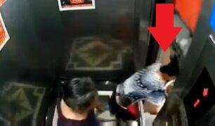 Mujer se salva de milagro de ser aplastada por ascensor descompuesto