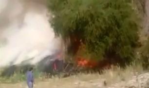 Moquegua: incendio forestal se registró cerca a sede del INIA