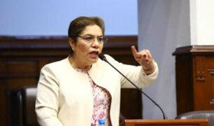 Congresista Luz Salgado recibió el alta médica tras permanecer internada en el INCOR