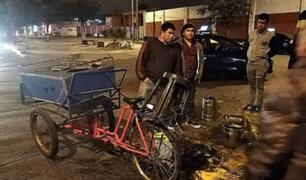 Trujillo: vendedor de emolientes fue embestido por vehículo y termina lesionado