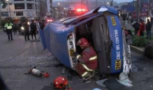 Asia: producto del sueño, chofer de bus protagonizó accidente