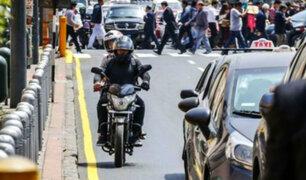 MTC: servicio de taxi en motocicletas no será regulado