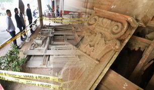 Hallan balcón del siglo XIX abandonado en descampado en Ate