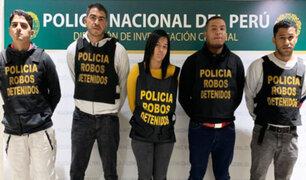 """Policía presenta a integrantes de la banda """"Los malditos del Rolex"""""""