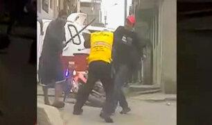 SJM: tres fiscalizadores heridos tras operativo contra mototaxistas informales