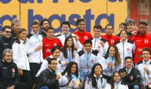 Selección Peruana recibió a medallistas panamericanos en la Videna