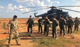 Perú envió helicópteros a Bolivia para combatir incendios forestales