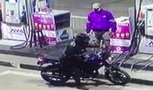 Tumbes: ladrón en moto quiso asaltar grifo, pero terminó cayendo en un hueco