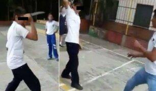 Niño intenta apuñalar a su profesor por haberlo castigado