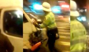 San Borja: casi 16 mil soles en multas debe chofer que embistió a policía