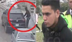 Surco: hombre es detenido al chocar auto robado en plena huida