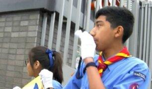 Santa Rosa de Lima: scouts dirigen tránsito en principales calles de la capital