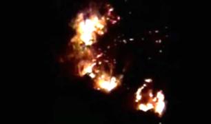Vraem: nuevo incendio forestal afecta localidad de Kimbiri Alto