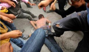 Los Olivos: capturan y golpean a ladrón que asaltó a joven con arma falsa