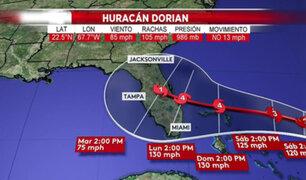"""Presidente Trump alerta que huracán Dorian """"puede golpear muy fuerte"""""""