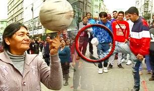 El reto de la Patadita: peloteros de barrio son puestos a prueba