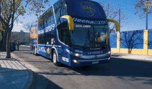 Boca Juniors presenta nuevo bus blindado para Súperclásico