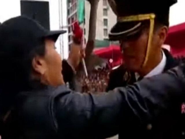 Conozca la historia del cadete PNP que tuvo tierno gesto con su madre en pleno desfile