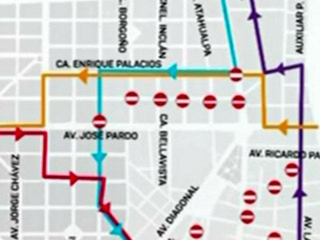 Miraflores: instan a usar transporte público durante cierre de vías este 4 y 11 de agosto