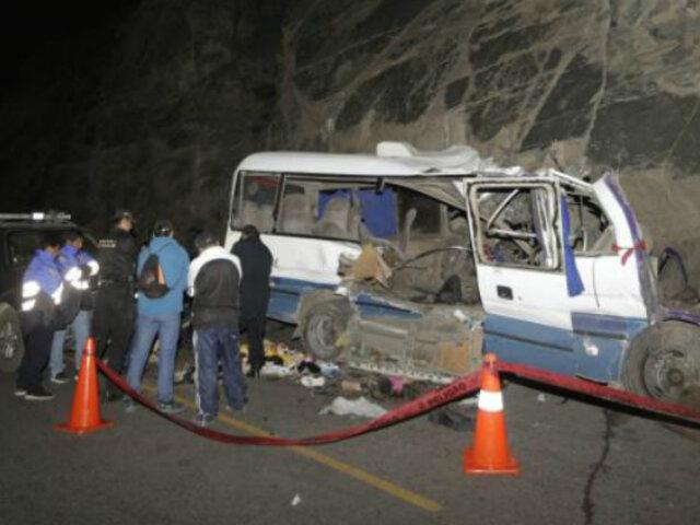 Accidente en Canta: Sutran denuncia penalmente a responsables
