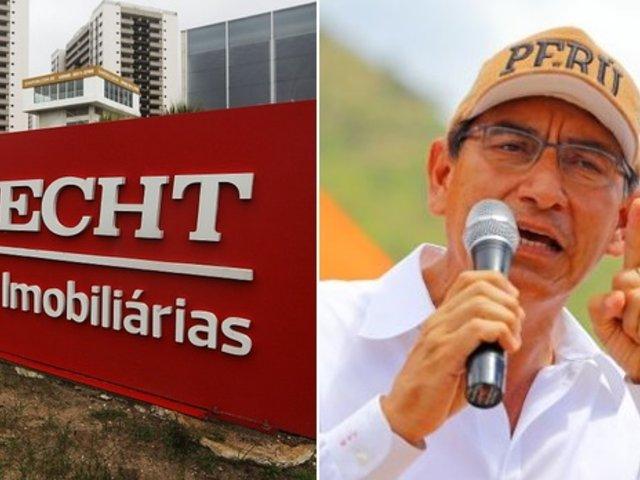 Presidente Martín Vizcarra en contra de devolver S/ 524 millones a Odebrecht