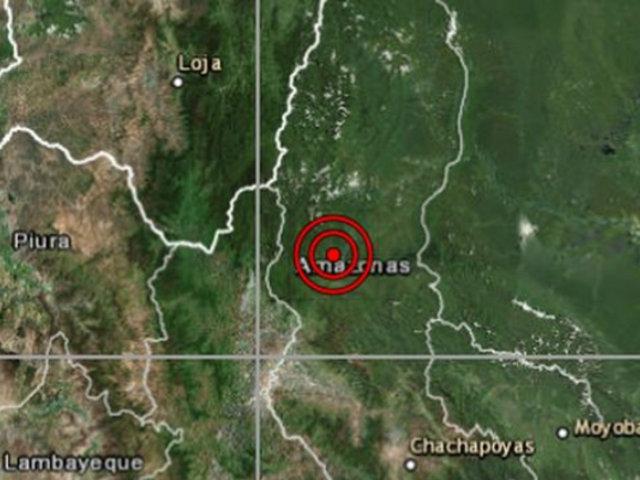 Sismo de magnitud 4.8 se registró esta tarde en Amazonas