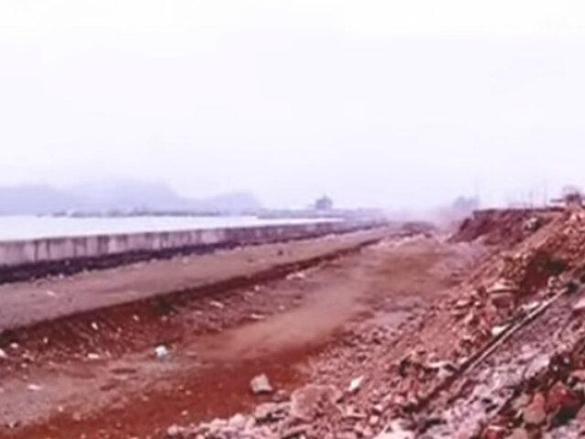 Informe 24: obras en Costa Verde del Callao continúan abandonadas