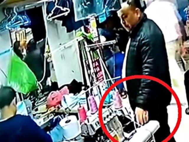 Jesús María: 'ladrón elegante' roba celular en local de costura