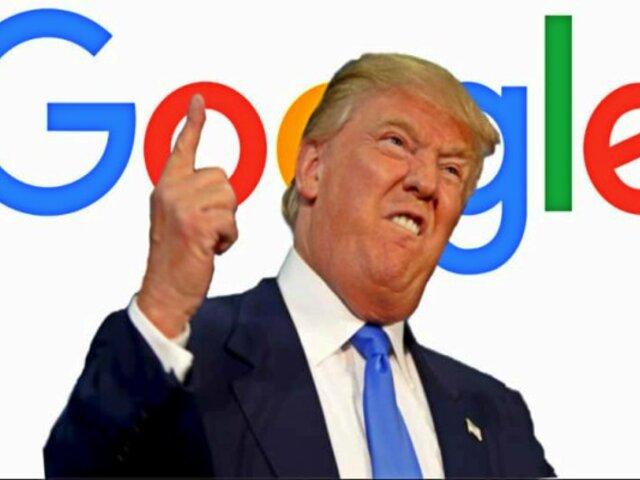 Donald Trump acusa a Google de sabotear sus campañas presidenciales