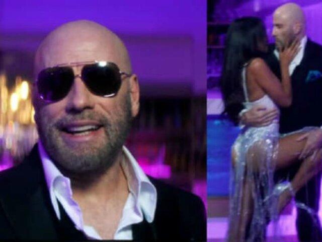 John Travolta causa furor bailando tango en nuevo videoclip de Pitbull