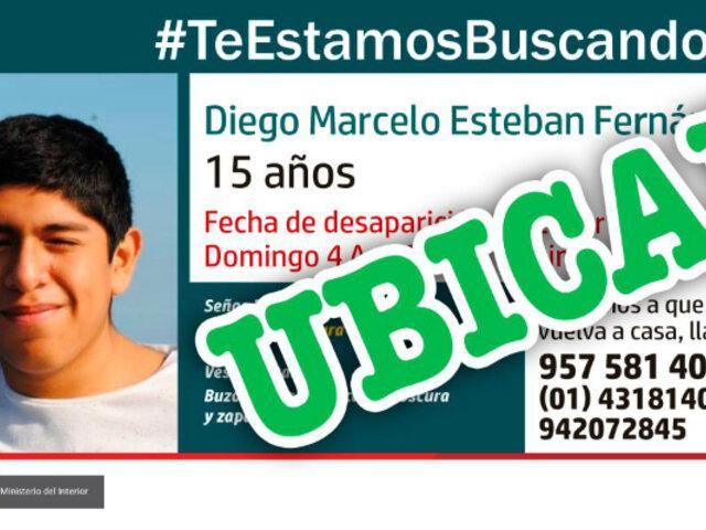 Huacho: encuentran a adolescente que desapareció en Chorrillos hace cuatro días