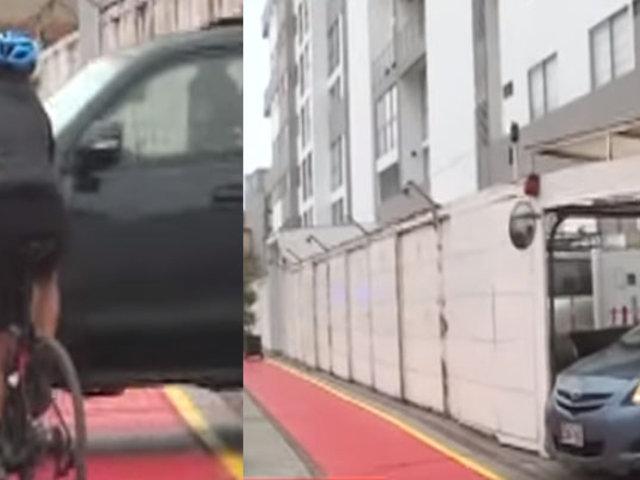 San Miguel: pintan ciclovía a escasos centímetros de puertas de edificios