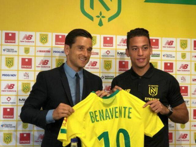 Cristian Benavente fue presentado con camiseta número 10 del Nantes
