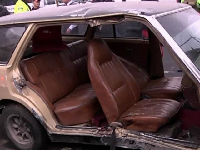 La Victoria: mujer queda grave tras choque de autos